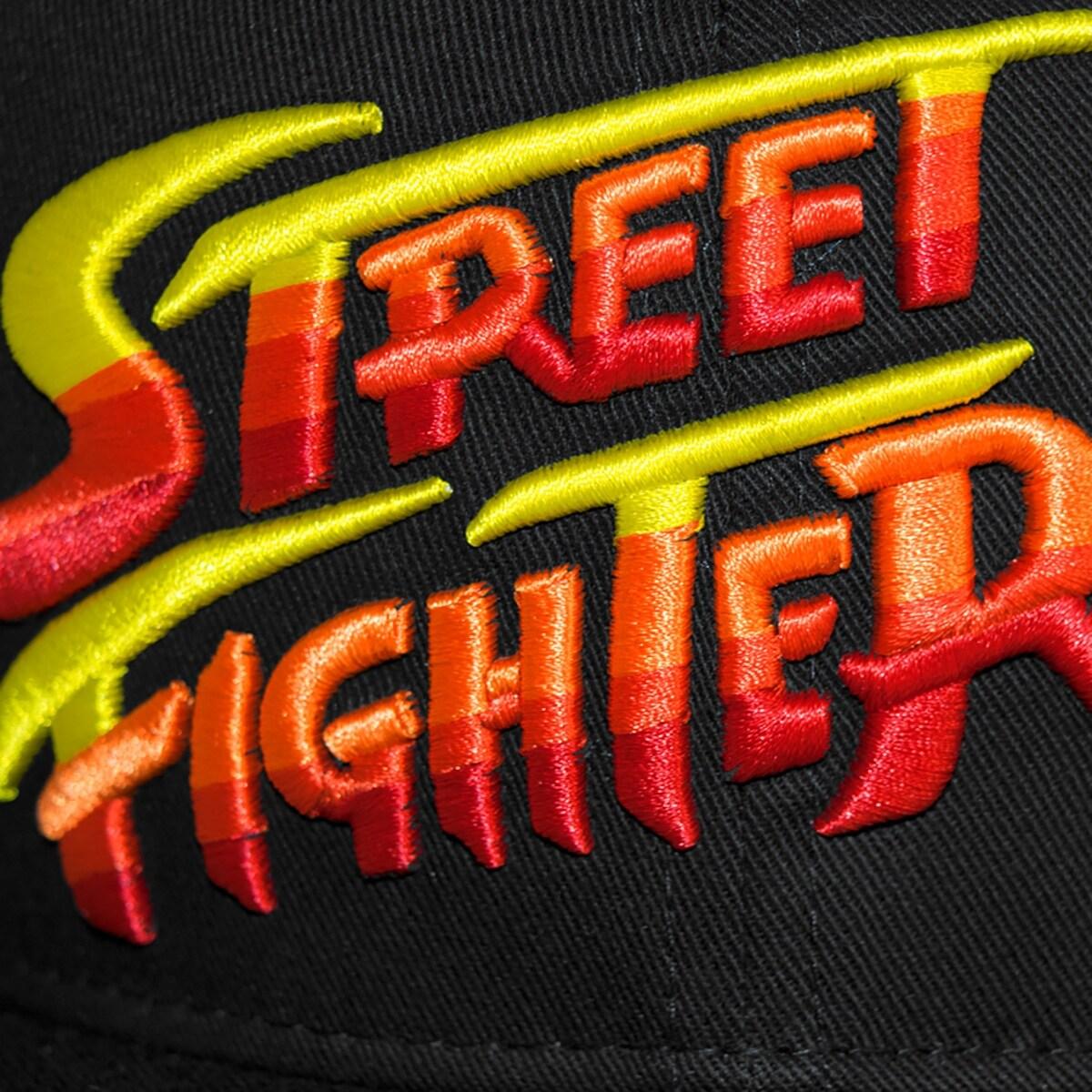 Shop Capcom Street Fighter Ii Logo Flat Brim Snapback Hat Black
