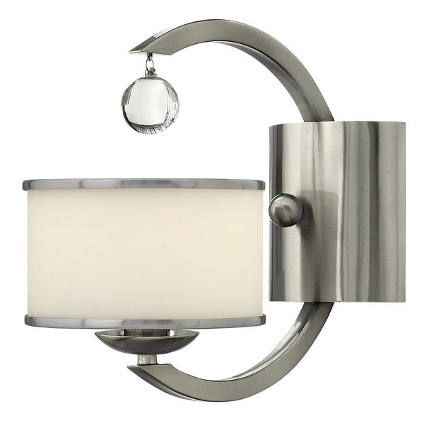"""Hinkley Lighting 4850 1-Light 10.25"""" Height Indoor Wall Sconce from the Monaco Collection - Brushed nickel"""