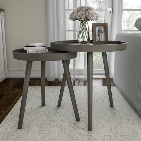 Set of 2 Nesting End Tables by Lavish Home