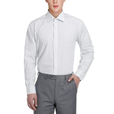 Men's Regular Fit 100% Cotton Striped Dress Shirt