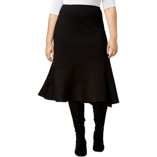 NY Collection Womens Plus A-Line Skirt Knit Knee-Length - 1X
