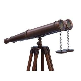 Handcrafted Decor Floor Standing Bronzed Binoculars, 62 in.