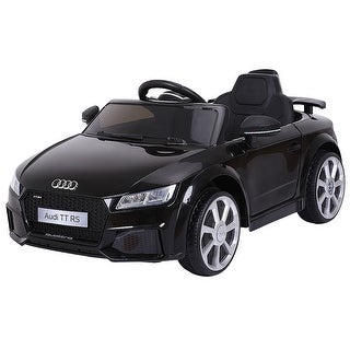 Costway Black 12V Audi TT RS Electric Kids Ride On Car Licensed Remote Control MP3