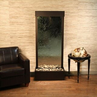 Adagio Harmony River Fountain - Flush Mount - Antique Bronze - Choose Options (Option: Silver Mirror - Glass - Bronze)
