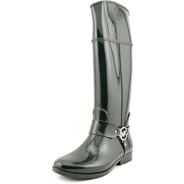 Michael Michael Kors Fulton Harness Tall Rainboot Women Green Rain Boot