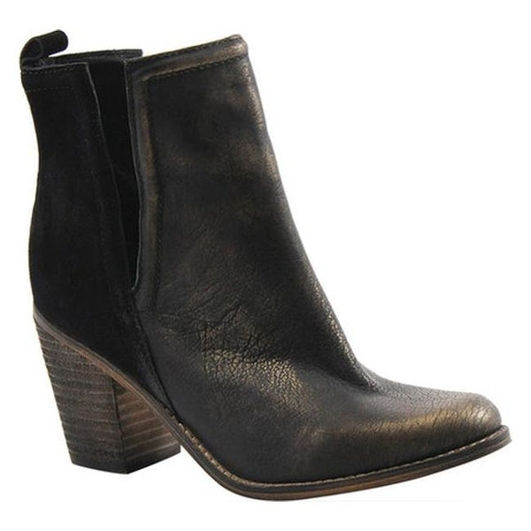 570d2d17b6 Shop Diba True Women's Later On Bootie Black/Gold Suede/Leather - Free  Shipping Today - Overstock - 17264899
