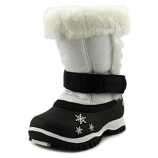 Baffin Lily Toddler Round Toe Canvas White Snow Boot