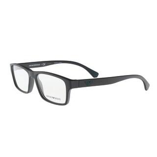 Emporio Armani EA3088 5042 Black Square Optical Frames - 53-17-140