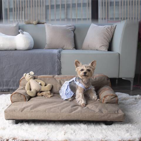 K1 2-in1 All Seasons Dog Sofa Wickman - Khaki