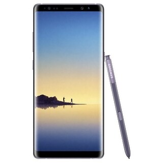 Samsung Galaxy Note8 N950FD 64GB Unlocked GSM LTE Dual-SIM Android Phone w/ Dual 12 Megapixel Camera - Orchid Grey - orchid grey