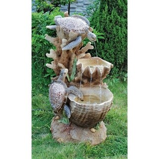 Turtle Cove Cascading Sculptural Fountain DESIGN TOSCANO turtle cove cascading