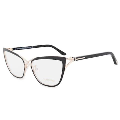 Tom Ford FT5272 005 Cateye Eyeglasses Frame Black/Gold Size 53mm - 53mm x 17mm x 135mm