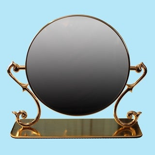 Table Mirror Cast Brass Magnifying Make Up 2- Sided Swivel Renovator's Supply