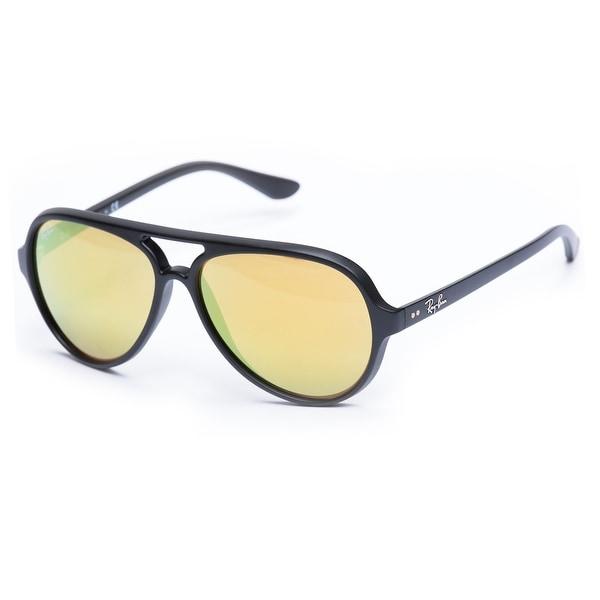 fceb0846c6 Shop Ray-Ban Unisex Aviator Sunglasses (Black   Yellow Flash) - Free  Shipping Today - Overstock.com - 20012059