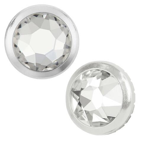 Swarovski Elements Crystal, 2078/H Framed Round Flatback Rhinestone 5.2mm, 12 Pieces, Crystal / Silver