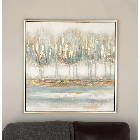 Blue Fir Traditional Framed Wall Art Nature 39 x 39 x 1