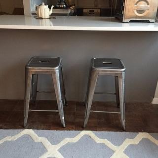 Carbon Loft Pemberton 24-inch Vintage Patina Backless Counter Stool (Set of 2)