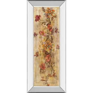 Silver And Gold Fleur Delicate I Mirrored Framed Print Hanging Wall Art 42 X 18 Overstock 32130220
