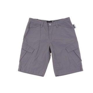 INC NEW Gray Mens Size 33 Hexagonal Textured Cargo Short Cotton