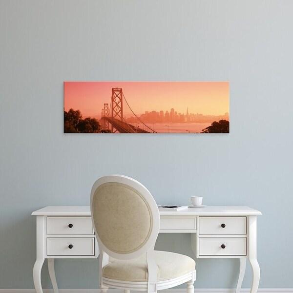 Easy Art Prints Panoramic Images's 'Bay Bridge, Skyline, City, San Francisco, California, USA' Premium Canvas Art