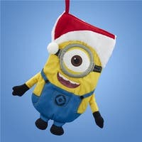 17 in. Despicable Me Minion Wearing A Santa Hat Christmas Stocking