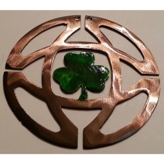 """Shamrock Celtic knot Christmas Ornaments - Size - 3.5"""" height - Color - Gold/Brown Burned Metal"""