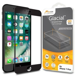rooCASE iPhone 7 Plus Black Border Edge to Edge Tempered Glass Protector for Apple iPhone 7 Plus 5.5-inch