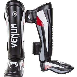 Venum Elite Standup Shin Guards - Black/Red/Gray