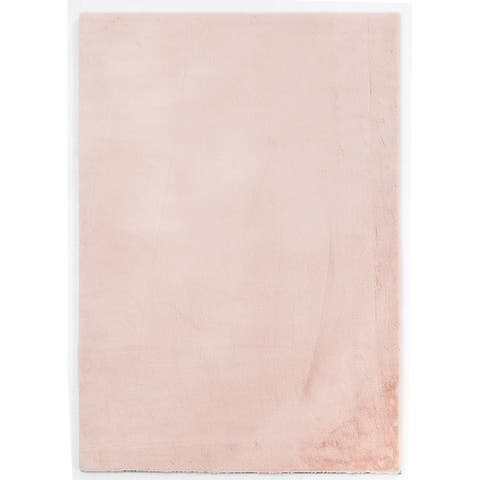 Rabbit-Collection Thick Faux-Fur Area Rug
