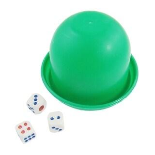 Unique Bargains Unique Bargains Game Dice Roller Cup Green w 3 Dices
