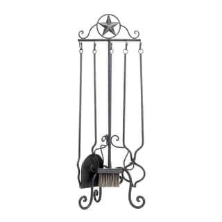 Lone Star Fireplace Tool Set - Black