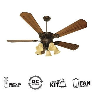 """Craftmade K10685 DC Epic 70"""" 5 Blade DC Indoor Ceiling Fan - Blades, Remote and Light Kit Included - oiled bronze"""
