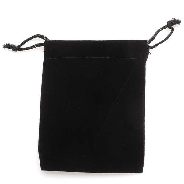 Black Velvet Drawstring Gift Bags 3 x 4 Inches (12)