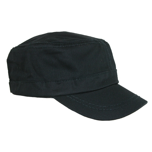 Something Special Men's Cotton Basic Solid Military Cadet Hat