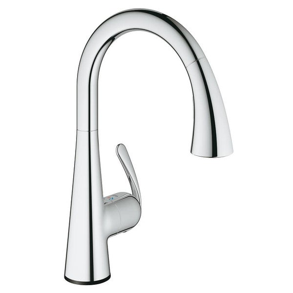 Grohe 30 205 1 Ladylux3 Cafe Touch Activated Pull-Down High-Arc Kitchen Faucet with 2-Function Locking Sprayer