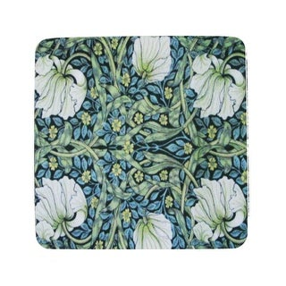 Pack of 8 Absorbent Blue Abstract Floral Print Cocktail Drink Coasters 4""
