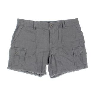 Tommy Hilfiger Womens Cutoff Shorts Linen Cargo