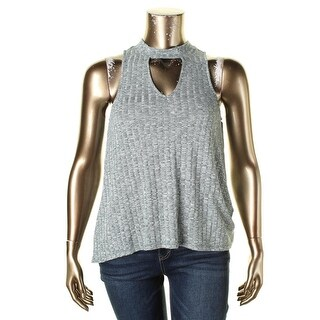 Almost Famous Womens Casual Top Cut-Out Sleeveless