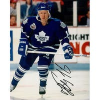 Signed Borschevsky Nikolai Toronto Maple Leafs 8x10 Photo autographed