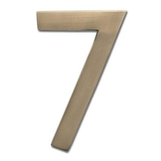 Architectural Mailboxes 3585-7 5 Inch Solid Cast Hand Finished Brass House Number '7'