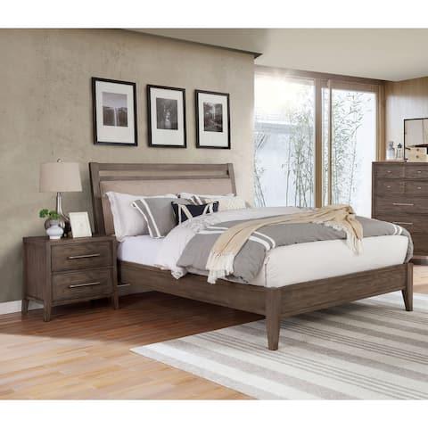 Furniture of America Ninn Transitional Grey 2-piece Bedroom Set