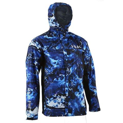 Huk Men's CYA Camo Hydro Reflex Small Packable Rain Jacket
