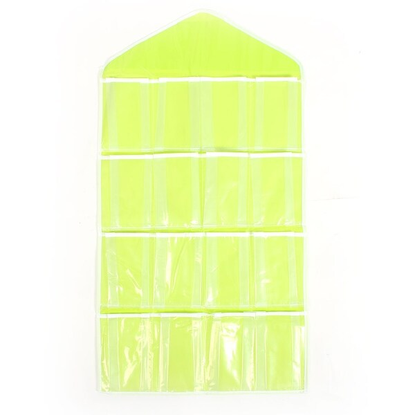 Wall Door Closet 16 Pockets Hanging Storage Bag Organizer Pouch Green 80 X 42cm
