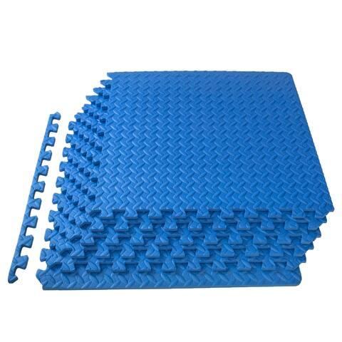 """ProsourceFit Puzzle Exercise Mat, EVA Foam Interlocking Tiles, 1/2"""""""