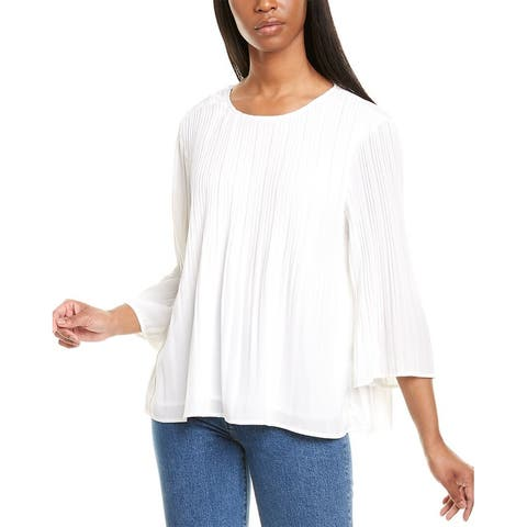 Cece By Cynthia Steffe Pleated Swing Top