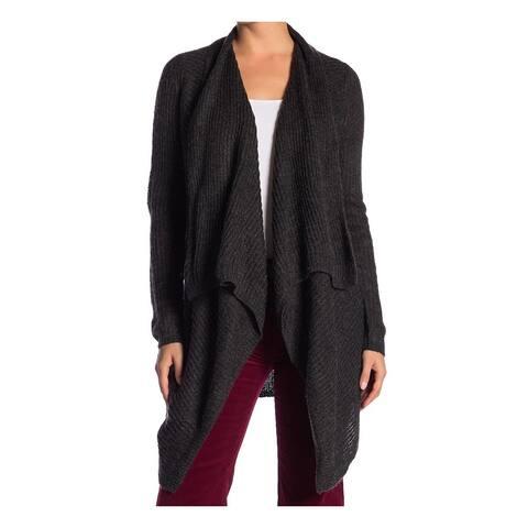 Joe Fresh Womens Gray Size Large L Cardigan Draped Asymmetric Sweater