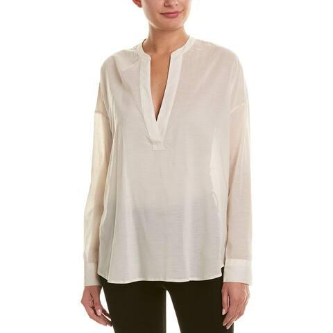 James Perse Chiffon Silk-Blend Pullover Tunic
