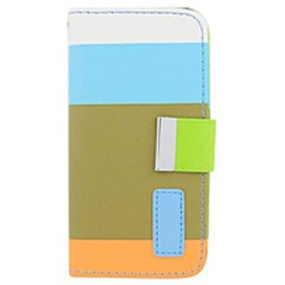 Eagle Cell LPIPHONE5P3C992 Multi-Colored Wallet Pouch for iPhone 5/5S - Orange/Brown/Blue/White/Green