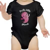 Pretty Little Ghoul Cute Black Baby Bodysuit For Baby Girl Halloween