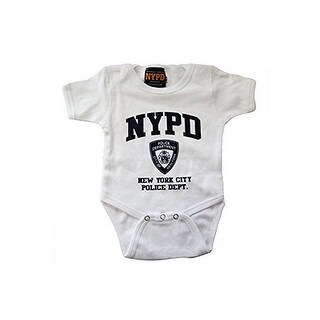 Nypd Infant Onesie White with Navy Chest Print (3 options available)